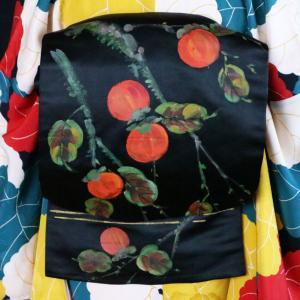 油絵調のペインテックス柿アンティーク帯