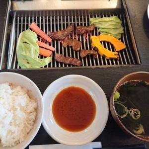 【福岡早良区】焼肉向日葵(ひまわり)こだわり肉とあきほなみとしいたけが入った焼肉ランチ アイスもうまいです