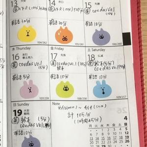 【英語学習記録】4/13〜4/19の合計【1週間】