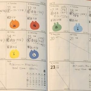 【英語学習記録】8/10〜8/23【2週間】