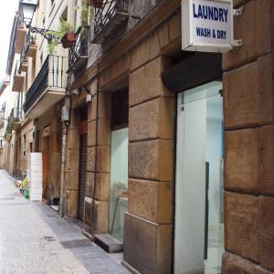 フランス&スペイン旅「ワインとバスクの旅!静かな朝のサン・セバスティアンバル街で朝食を食べながらお洗濯?!」