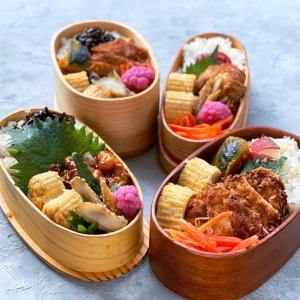 黒酢酢豚弁当とトンカツ弁当♪