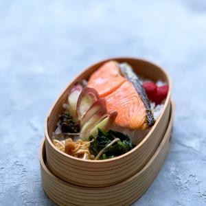 久々のお弁当は鮭弁!