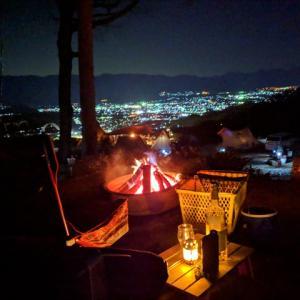 夜景キャンプ 19年3月8日(金)~9日(土) パインウッドオートキャンプ場