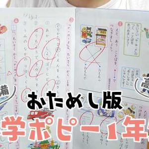 【新入学準備】小学ポピー1年生の無料おためしレビュー・入会プレゼントも魅力!