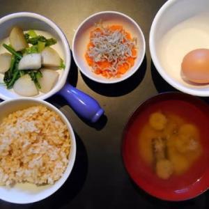 0218朝食:ジャコおろしニンジン