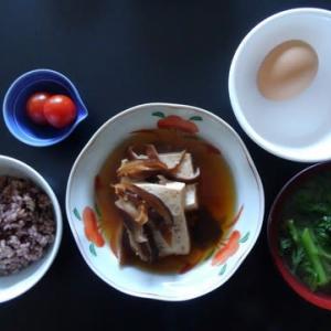 朝食:椎茸豆腐
