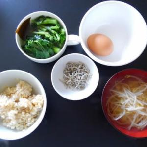 0319朝食:のらぼうの超薄ダシ煮