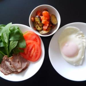 0317の朝食:ハムとか/夕食:ボンゴレビアンコ