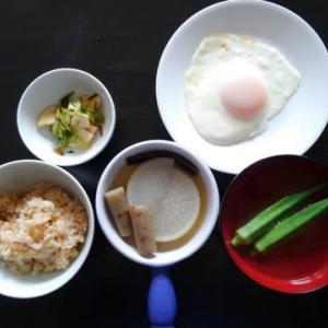 朝食:地味な和風定食/夕食:静かなタイ風定食