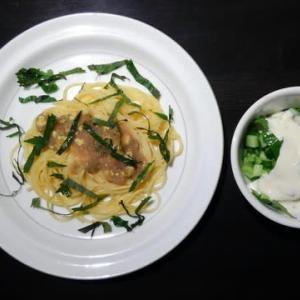 1019夕食:タラコスパゲティ