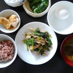 1020朝食:鶏の焼き浸し/昼食:レトルトプラス/夕食:(家人作)