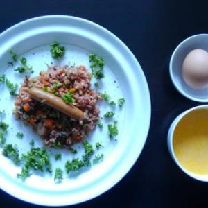 1025朝食:ピラフ 危険な食いっぷり