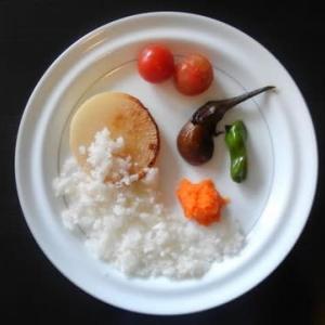 0816朝食:夏ダイコンのステーキ