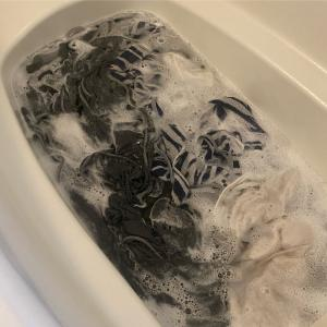 閲覧注意! タオルをオキシ漬けしてみた結果
