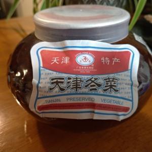 【天津冬菜(白菜にんにく漬けを買って試してみた】天津冬菜の使い方、塩抜きして、調味料として使うのが一般的のようです