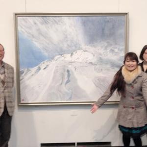 1/25 上野の森美術館 山岳画家 中島茂夫さん個展へ