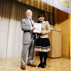 2/14 東京虎ノ門 ホテルオークラ東京にて 英国王立美術家協会 名誉会員4連星受賞式 日本初 受賞しました
