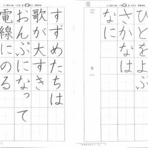 11/25 幼児児童生徒 小中学生硬筆お手本公開