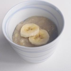 【オーツミルクとバナナのプリン】片栗粉でとろり簡単ヘルシー