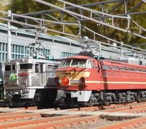 フリーの電気機関車 記念撮影してみる