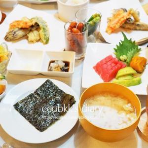 おうちで手巻き寿司/My Homemade Dinner/อาหารมื้อดึกที่ทำเอง