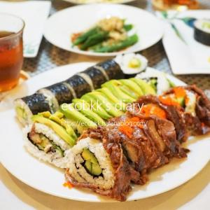 巻き寿司/My Homemade Rolled Sushi, Makizushi/ซูชิโรล(มากิซูชิ)