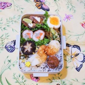 お弁当の記録2日分/My Homemade Boxed Lunch/ข้าวกล่องเบนโตะที่ทำเอง