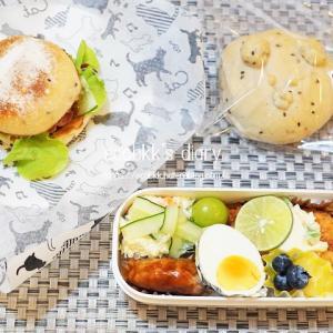 パン弁当の記録/My Homemade Bread Lunch/ขนมปังกับเบนโตะที่ทำเอง