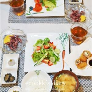 【和食】おうちごはんの記録/My Homemade Japanese Dinner/อาหารมื้อดึกที่ทำเอง