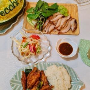 【飲食店】サバイジャイでデリバリーしたタイ料理@バンコク/Food Delivery from Sabaijai Original/อาหารที่มาจากสบายใจไก่ย่าง ดั้งเดิม