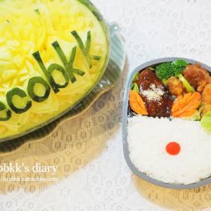 オリンピック開催中は日の丸弁当に(^^)/My Homemade Lunchbox/ข้าวกล่องเบนโตะที่ทำเอง