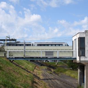 多摩川橋梁のロマンスカー EXEα