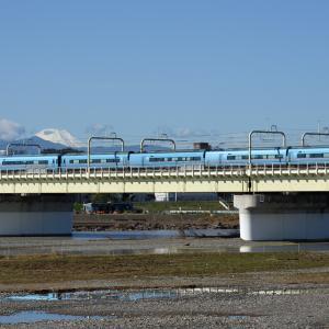 多摩川橋梁のロマンスカー MSE