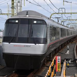 多摩川橋梁を通過するロマンスカー EXEα