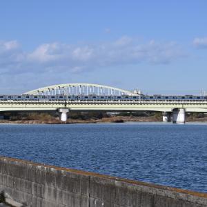 多摩川橋梁の小田急3000形