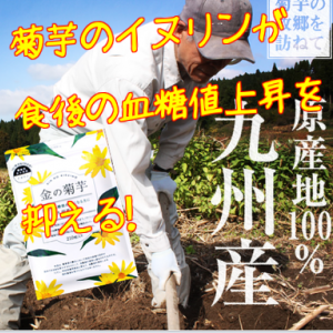 機能性表示食品「金の菊芋」を飲んで食後の血糖値の上昇を抑える!