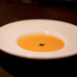 白金のピックドールでかぼちゃのスープ