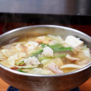 中洲のサケイチでひとり鍋
