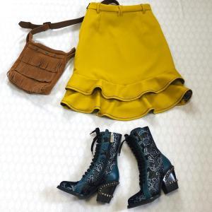 【完成】月居良子さんの「大人のクチュール」の後ろ裾フリルのスカート。