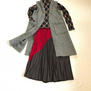 年末に作ったジレとキャスケットと買った布♪