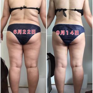瘦身結果、順調です!!  お腹・太もものサイズダウンがいい感じです(^^)