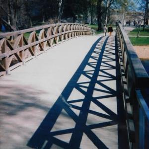 この木橋渡って行けば古城なり