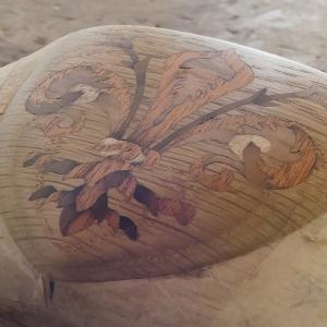 百合の紋章の木象嵌の作り方