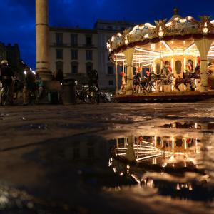 雨の日を楽しむフィレンツェの街