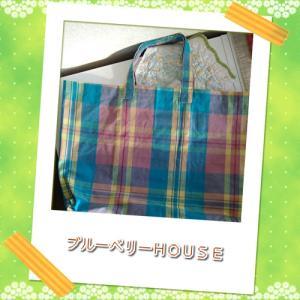風があっても熱風&インド綿の手提げバッグ