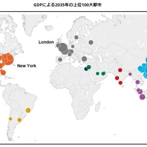 15年後、2035年の世界の都市の「GDP、人口、成長率」トップ10は?