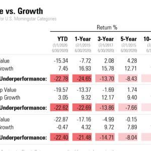 【米国株投資】バリュー株 VS グロース株 20年間を振り返って【長期リターン】