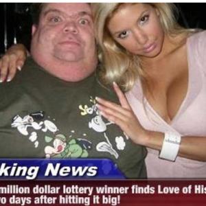 宝くじで181億円当てた2日後に彼女が出来て大喜び。なお・・・