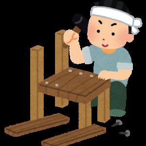 【DIY】まさかのダイニングテーブルをガッチャンコ!?イタリアン家具風ダイニングテーブル完成!!
